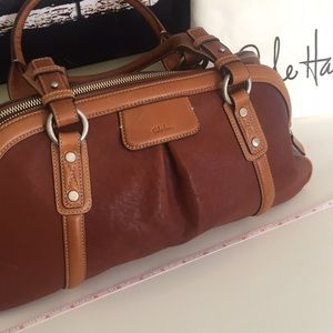COLE HAAN Brown Leather W's Satchel